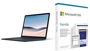 "Microsoft Surface Laptop 3 (Windows 10, écran Tactile 13"", Intel Core i5, 8Go RAM, 25 + Microsoft 365 Famille   Box"