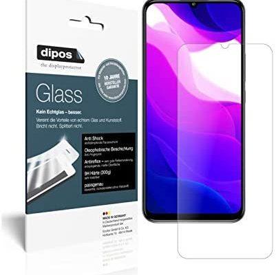 dipos I 2X Protection ecrán Mat Compatible avec Xiaomi Mi 10 Lite 5G Verre Souple Film Protecteur 9H (1x Avant + 1x arrière)