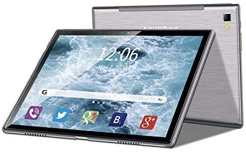 4G LTE Tablette Tactile 10 Pouces, Android 9.0 Pie, Octa Core, 4 Go RAM + 64 Go ROM(256 Go Extensible), 1920x1200 IPS HD Écran, Dual SIM Tablet PC, 8000 mAh, OTG, Type-C, WiFi, GPS, Bluetooth