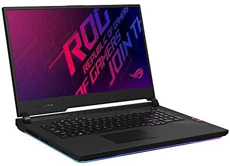 """Asus ROG Strix Scar 17 G732LXS 43,9 cm (17,3"""", Full HD, Niveau IPS, 300 Hz, Mat) Ordinateur Portable Gaming (Intel Core i7-10875H, 16 Go de RAM, 512 Go + SSD 512 Go, RTX2080 S), W10 Noir"""