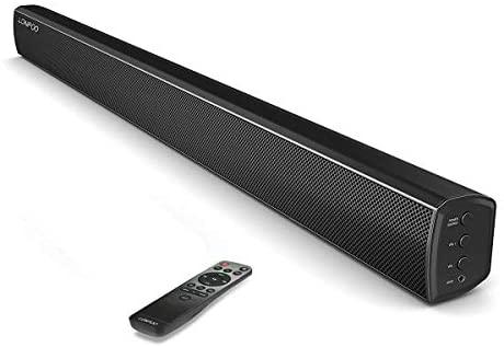 Barre de Son TV sans Fil Bluetooth 5.0, USB ENTRÉE,3D Surround Stéréo Basse/Treble Haut-Parleurs Para Home Cinéma (Noir)
