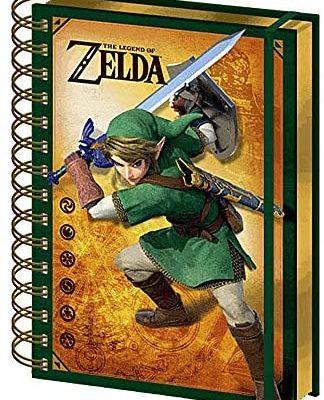Carnet de notes à spirale avec couverture rigide The Legend of Zelda - Format A5