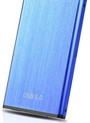 """Disque Dur Externe 1to,Disque Dur Externe Portable USB3.0 SATA, Stockage 2.5"""" HDD pour PC, Xbox One, Desktop, Laptop(1To,Bleu)"""