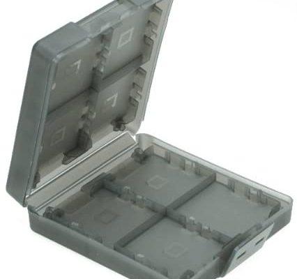 Générique 16-en-1 Etui de Protection en Plastique Boîte de Rangement de Cartes Mémoires de Jeu Vidéo pour 3DS (Noir)
