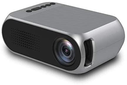 Gycdwjh Vidéoprojecteur,Projecteur 3D HD LED Portable LCD HDMI Théâtre Domestique Multimédia avec USB HDMI Home Cinéma Maison Jeux Vidéo TV Movie