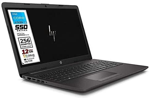 """HP 250 G7 Ordinateur portable PC Cpu Intel Core i3 de 8 G jusqu'à 3,4 GHz, écran 15,6"""" HD LED, SSD Nvme 256 Go, 8 Go de RAM, Bt, Wi-Fi, HDmi, Win10 Pro 64 et Office 2019, prêt à l'emploi."""