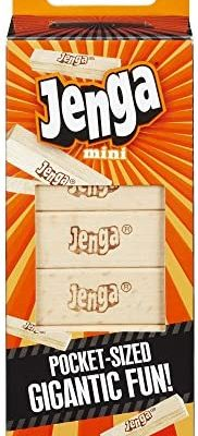 Hasbro Gaming Jenga Mini Game, Ages 6 and Up, for 1 Or More Players