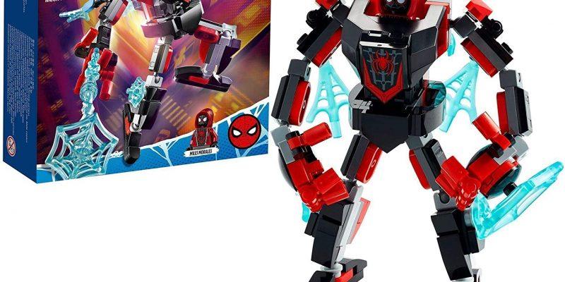 LEGO Marvel Spider-Man 76171 L'armure robot de Miles Morales, jeu de construction, garçon ou fille 7 ans, figurine super héros