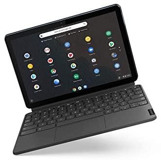 """Lenovo Chromebook Ordinateur Portable 10,1"""", tablette, touch. 64 Go bleu/gris clavier Allemand QWERTZ"""