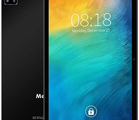 MEBERRY Tablette Tactile Android 10.0:5G WI-FI   1.6 GHz   Octa-Core Super-Rapide Tablettes PC- 4GB RAM+64GB ROM(Certification GOOGLE GSM)- HD Display   Face ID   GPS   Clavier & Souris Et Plus - Noir