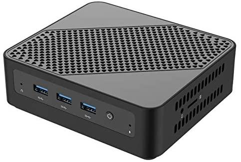 Mini PC, processeur Intel Core i5-5257U Mini Ordinateur de Bureau 8 Go DDR3L / 128 Go eMMC avec Windows 10 Pro, Connexion HDMI et Mini DP, WiFi Double Bande, BT 5.0, 3 * USB 3.0, 1 * USB C