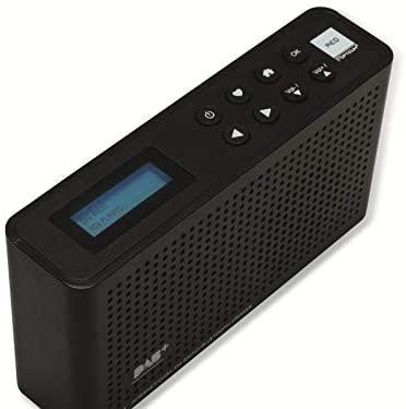 Red Opticum TON4 Dab+, Internet, Radio FM Noire avec Fonction Bluetooth, Wi-FI, écran 2 Lignes, Sortie Casque