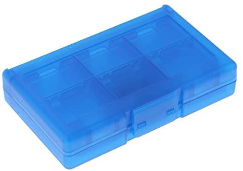 Sharplace Boîtier de Protection pour Carte Mémoire avec 24 Logement - pour Nintendo Switch - Bleu