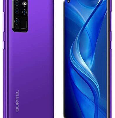 Smarphone OUKITEL C21 Telephone Portable Debloqué Pas Cher 4G(Android 10,4Go+64Go Octa-Core, Selfie AI 20MP avec Quad Caméra 16MP+2MP, 4000mAh,6.4 Pouces) Face+L'Empreinte Digitale est déverrouillée