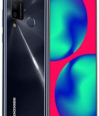 Telephone Portable 4G, DOOGEE N20 Pro(2020) Smartphone Débloqué 6Go + 128Go, Écran 6,3 Pouces, Android 10.0, 16MP/ 8MP 4 Caméras, Double Nano SIM, 4400mAh, Capteur Empreinte/Face ID - Noir