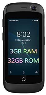 Unihertz Jelly Pro Smartphone 4G le plus petit du monde, Android 7.0 Nougat débloqué avec 2 Go de RAM et 16 Go de ROM
