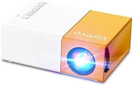 Vamvo YG300 Pro Mini projecteur Portable Supporte 1080p pour Enfants Cadeau Home Cinéma Compatible avec Smartphone/Ordinateur portable/PS4/Firestick