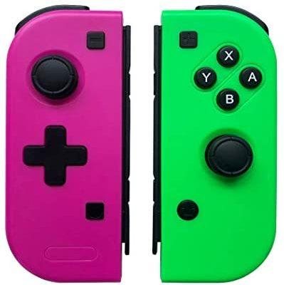 WeJoy Manettes pour Nintendo Switch , Pro Sans Fil Jeu Contrôleur pour Switch Console- Rose Rouge (L) et Vert (R) (Production de tiers)