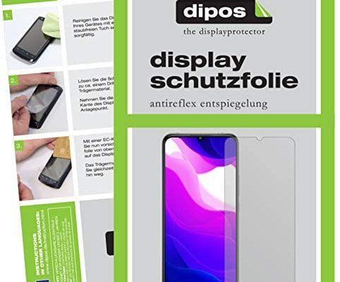 dipos I 6X Protection ecrán Mat Compatible avec Xiaomi Mi 10 Lite 5G Films de Protection d'écran