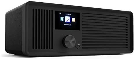 sky vision Dab 70 IR GB – Radio Internet stéréo Dab+ FM FM Wi-FI Compatible avec Port AUX et câble Radio numérique avec télécommande Noir