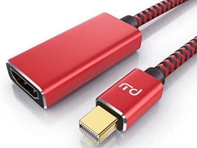 Primewire- Adaptateur Mini Displayport mâle vers HDMI 2.0 Femelle - DP à HDMI 4k@60Hz - Thunderbolt 1-2 - Audio et vidéo - pour MacBook Air/Pro, MS Surface Pro, Lenovo Notebook, Moniteur, Projecteur