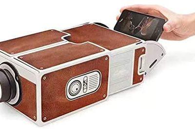 KUYG Projecteur de smartphone à la mode, créez une petite fête Home Cinéma Portable DIY Mini Vidéoprojecteur