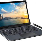 YESTEL 4G LTE Tablettes Android 10.0 avec Clavier Magnétique Exclusif,10 Pouces Tablette Tactiles|Doule SIM+5G Wi-FI|FHD 1920×1200P|8 Cœurs|1.6 GHz|64Go(SD à 128 Go), 3Go de RAM|6000mAh|Type-C -Gris