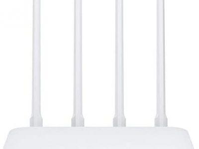QWERTOUR Routeur 4C Haute Vitesse WiFi 802.11 b/g/n 2.4G 300Mbps 4 antennes intelligentes APP de contrôle Bande sans Fil Routeurs répéteur