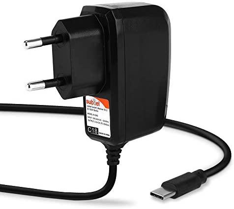 subtel® Chargeur Tablette USB C Type C 5V 2A / 2000mA 1,2m Compatible avec Teclast T30, T30 Pro, M40, M16, P20HD, M30, M30 Pro, T20, M89, M89 Pro, Master T8, Adaptateur Secteur, Câble Charge Rapide