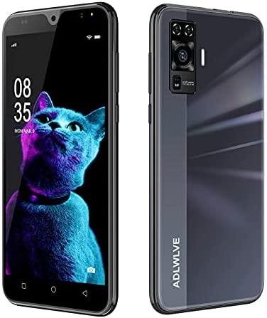 4G Telephone Portable debloqué, 16Go /64 Go ROM,2Go RAM, Android 9,0, 5.5 Pouces Smartphone Pas Cher, Dual SIM 5MP+ 8MP 3600mAh Téléphone Portable Pas Cher sans Forfait,WiFi/GPS/Bluetooth (Noir)