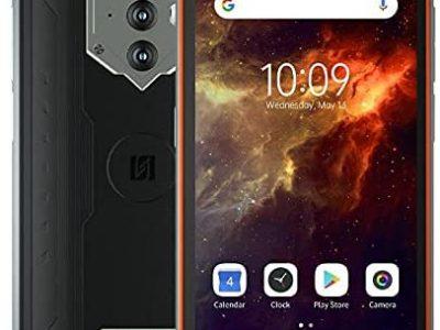 Blackview BV6600E IP68 Téléphone Portable Incassable, Batterie 8580mAh (Charge Inversée), 5.7'' HD+ IP68 & IP69K Smartphone Étanche Antichoc Android 11, Octa Core 4GB + 32GB, Caméra 16MP GPS Orange