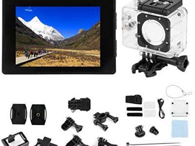 Caméra d'action WiFi, Mini Caméra 4K Action Sport Caméscope Grand Angle étanche Caméra Extérieure de Vélo 170 Degrés Grand Angle