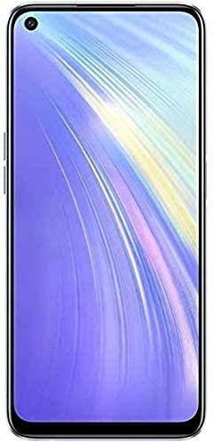 REALME 6 Blanc Smartphone Débloqué 4G+ - (Ecran : 6,5 Pouces – 4 Go RAM – 128 Go ROM - Double Nano SIM - Android) [Version Française]