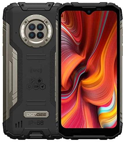Smartphone Incassable IR Vision Nocturne DOOGEE S96 Pro, Helio G90 8Go+128Go, Caméra Quatre 48MP(Infrarouge 20MP), Téléphone Débloqué Robuste 6,22'' IP68 6350mAh (Charge sans Fil) GPS NFC Noir