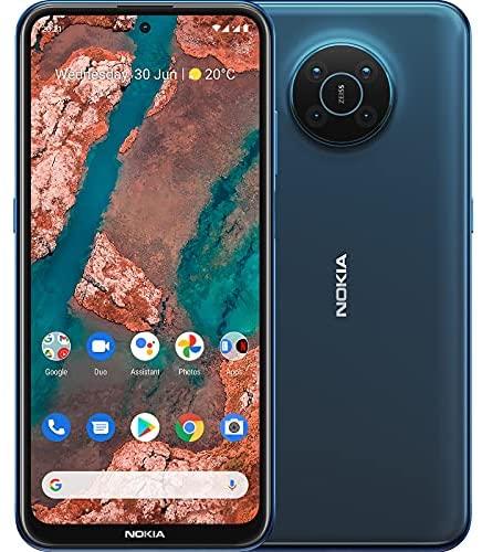 """Smartphone Nokia X20 5G, Double SIM, RAM 8Go, ROM 128Go, Photo de 64MP, Tatouage numérique, écran de 6,67"""" Full HD+, autonomie de 2 Jours de la Batterie et Pure Android 11 - Nordic Blue"""