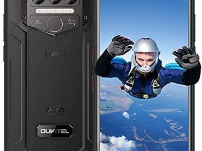 Téléphone Incassable, OUKITEL WP9 Telephone Portable, 6Go 128Go, 5.86''Batterie 8000mAh, Smartphone Antichoc Étanche IP68, Triple Caméra 16MP, Android 10 Dual SIM 4G, NFC, Face ID/Fingerprint (Noir)