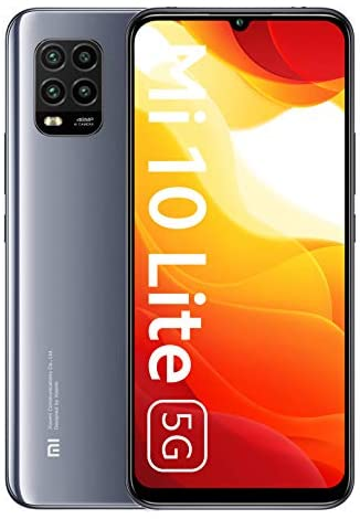 Xiaomi Mi 10 Lite 5G Smartphone 6GB 128GB 6.57'' AMOLED 48MP Quad-caméra 4160mAh (Typical) NFC Gris Cosmique