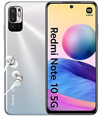 """Xiaomi Redmi Note 10 5G - Smartphone débloqué 4+128GB, 6.5"""" Écran DotDisplay 90Hz AdaptiveSync, MediaTek Dimensity 700, Triple caméra, 5000mAh, Argent chromé (Version Française + 2 Ans de Garantie)"""